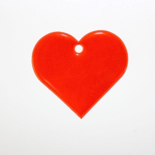 Zawieszka odblaskowa miękka - czerwone serce