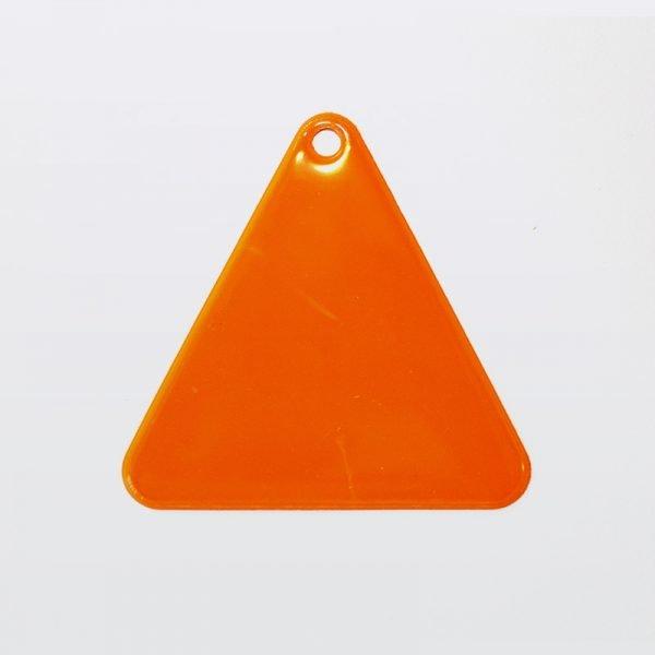 Zawieszka odblaskowa miękka - pomarańczowy trójkąt