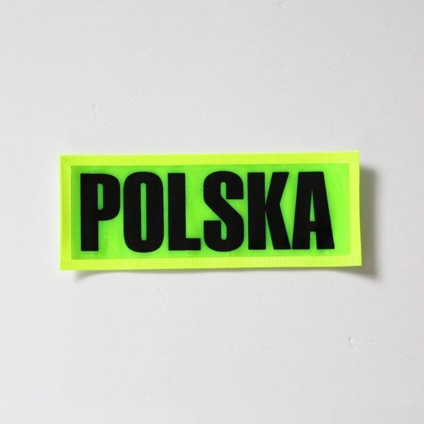 żółty emblemat odblaskowy - Polska