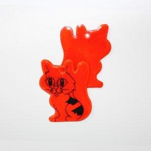 Zawieszka odblaskowa miękka - kotek