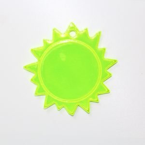 Zawieszka odblaskowa miękka - słońce