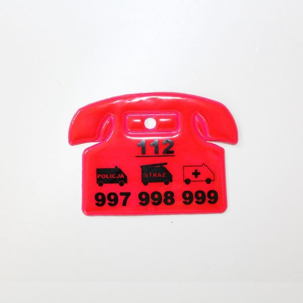 Zawieszka odblaskowa miękka - telefon