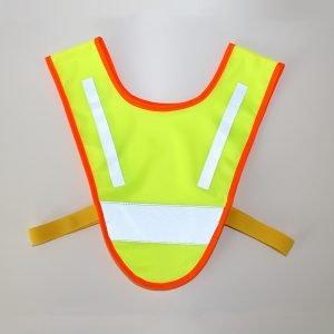 Żółta szelka odblaskowa dla dziecka - kamizelka