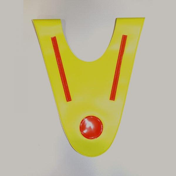 Żółta szelka odblaskowa dla dziecka