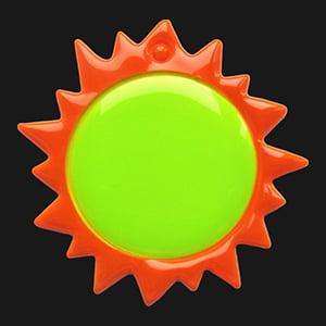 Zawieszka odblaskowa miękka 3D słoneczko