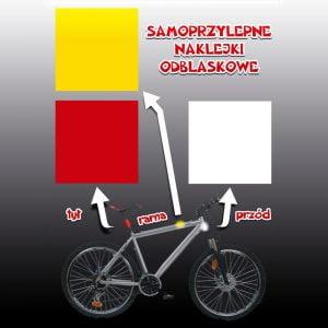 Naklejki odblaskowe na rower 3 szt.