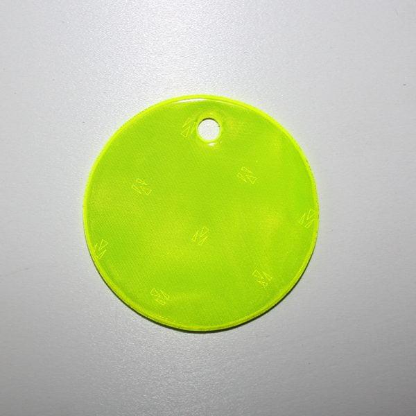 Żółta zawieszka odblaskowa miękka z folii certyfikowanej - kółko