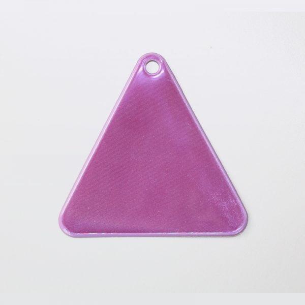 Zawieszka odblaskowa miękka - fioletowy trójkąt