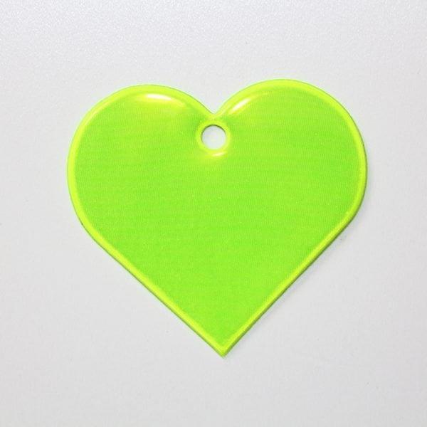 Zawieszka odblaskowa miękka - żółte serce