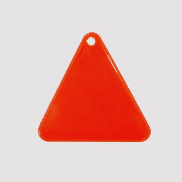 Zawieszka odblaskowa miękka - czerwony trójkąt