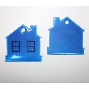 Zawieszka odblaskowa miękka domek
