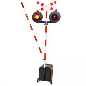 Sygnalizator kolejowy z rogatką
