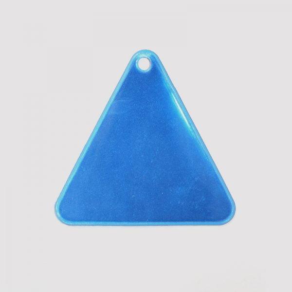 Zawieszka odblaskowa miękka - niebieski trójkąt