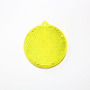 Zawieszka odblaskowa twarda - żółte kółko