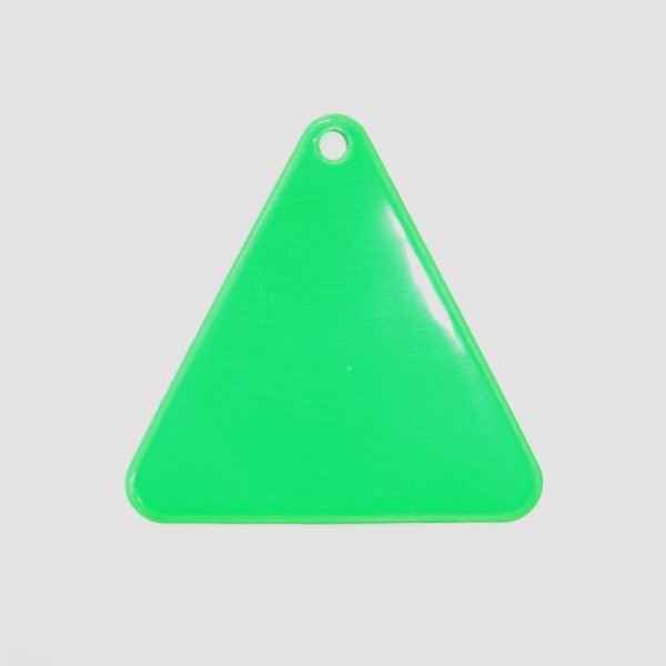 Zawieszka odblaskowa miękka - zielony trójkąt