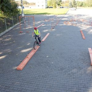 Piaskownica - rowerowy tor przeszkód
