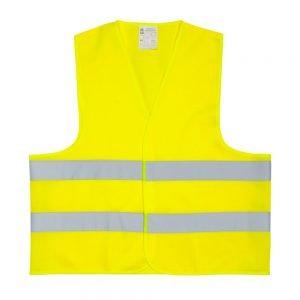 żółta kamizelka odblaskowa dla dorosłych - przód