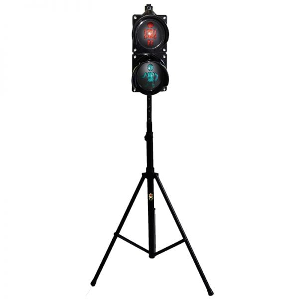 Sygnalizator 2-komorowy dla ruchu pieszego - statyw