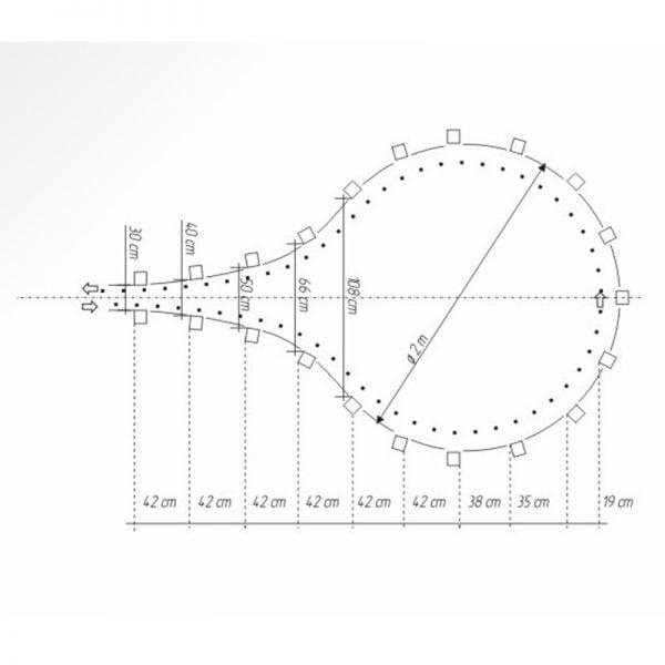 Łezka - rowerowy tor przeszkód