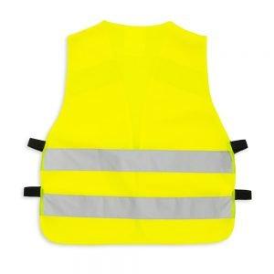 żółta kamizelka odblaskowa dla dzieci z klipem UU204 - tył