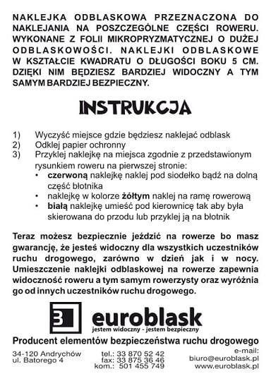 Instrukcja dla naklejek odblaskowych
