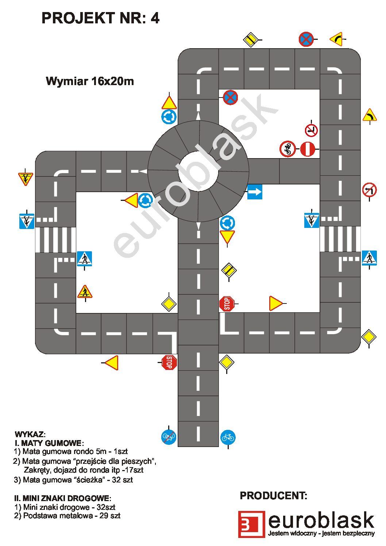 Projekt nr 4 - Mobilne miasteczko ruchu drogowego 16x20m