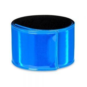 Niebieska opaska odblaskowa samozaciskowa