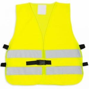 żółta kamizelka odblaskowa dla dzieci z klipem UU204 - przód