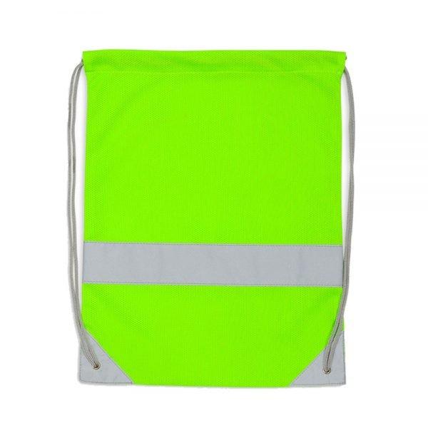 Zielony worek odblaskowy na plecy