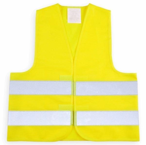 żółta kamizelka odblaskowa dla dzieci zapinana na rzep - przód