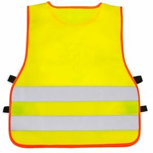 żółta kamizelka odblaskowa narzucana przez głowę UU203 - tył
