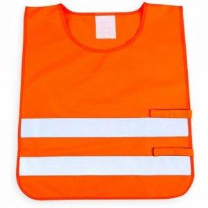 pomarańczowa kamizelka odblaskowa dla dzieci UU203KID - przód