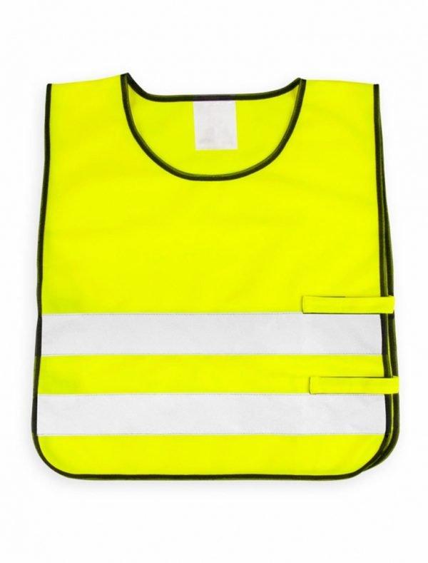 żółta kamizelka odblaskowa dla dzieci UU203KID - przód