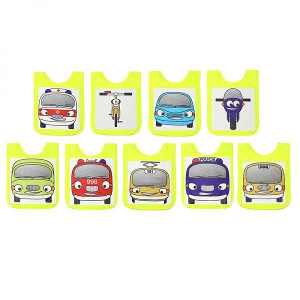 9 szt. makiet pojazdów