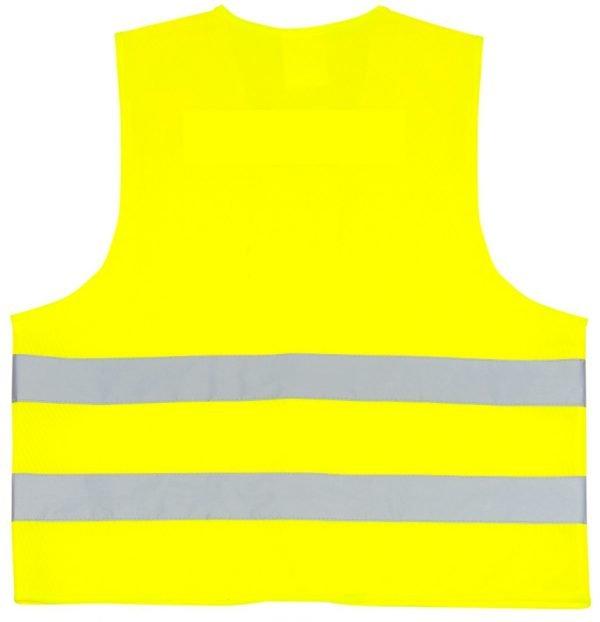 żółta kamizelka odblaskowa dla dorosłych - tył