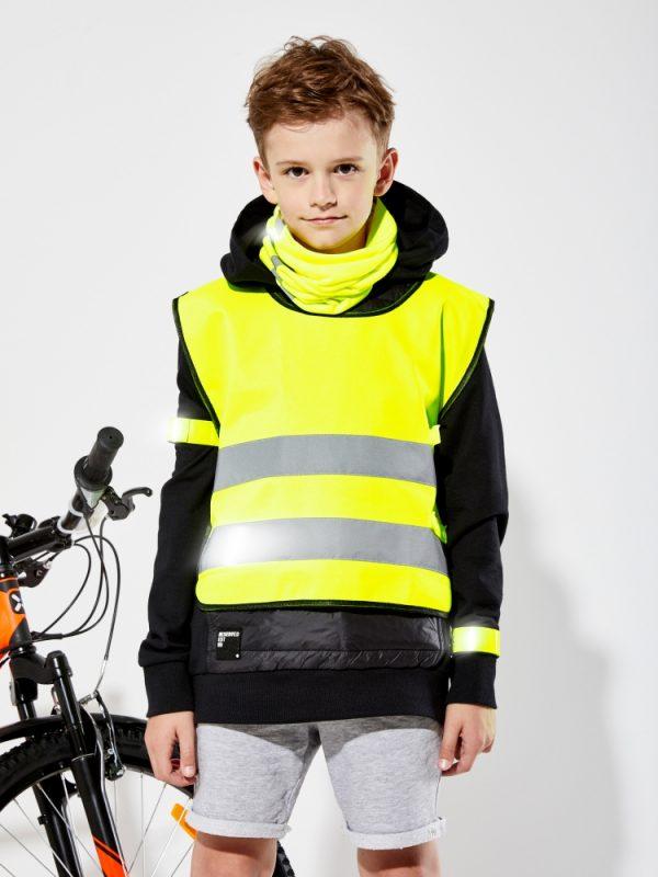 żółta kamizelka odblaskowa dla dzieci UU203KID - zdjęcie sesja