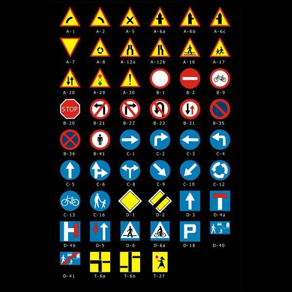 Mini znak drogowy