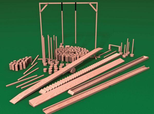 Rowerowy tor przeszkód - 14 elementów