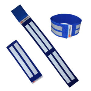 Opaska odblaskowa, elastyczna na rzep, do biegania CE EN 13356:2004
