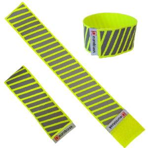 Opaska odblaskowa żółta neon, elastyczna na rzep- CE EN 13356:2004