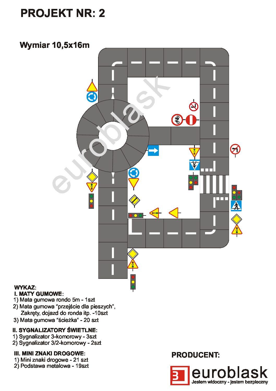 Projekt nr 2 – Mobilne miasteczko ruchu drogowego 10,5x16m