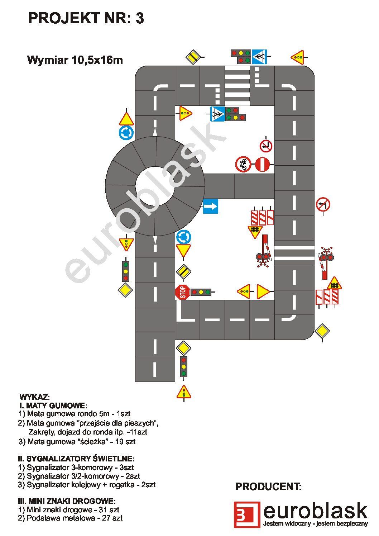 Projekt nr 3 – Mobilne miasteczko ruchu drogowego 10,5x16m