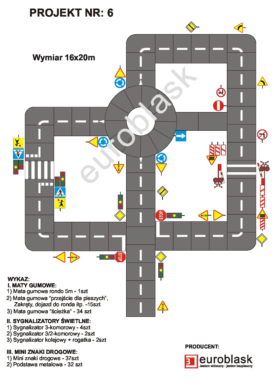 Projekt nr 6 – Mobilne miasteczko ruchu drogowego 16x20m