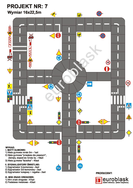 Projekt nr 7 – Mobilne miasteczko ruchu drogowego 16x22,5m