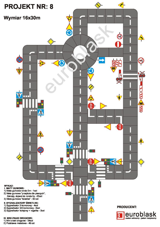 Projekt nr 8 – Mobilne miasteczko ruchu drogowego 16x30m
